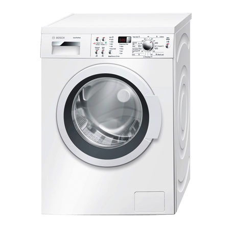 BOSCH WAP24390GB, Freestanding 8kg 1200rpm Washing Machine with A+++ Energy Rating - White. Ex-Display Model