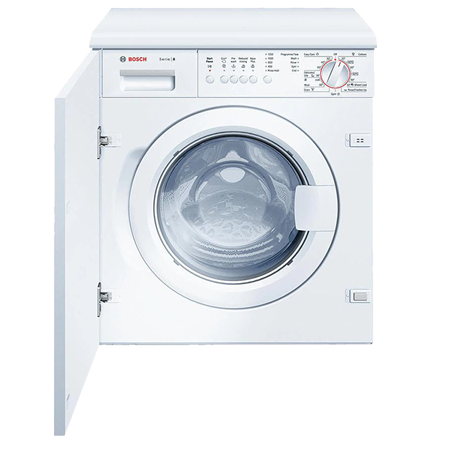 BOSCH WIS24141GB, Logixx Built-In 7kg 1200rpm Washing Machine with A+ Energy Rating - White