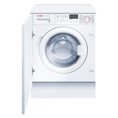 BOSCH WIS28441GB, Logixx Built-In 7kg 1400rpm Washing Machine  with A+ Energy Rating - White