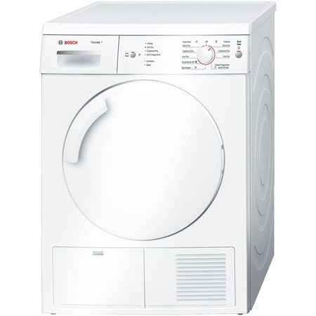 BOSCH WTE84106GB, Classixx Freestanding 7Kg Condenser Dryer White