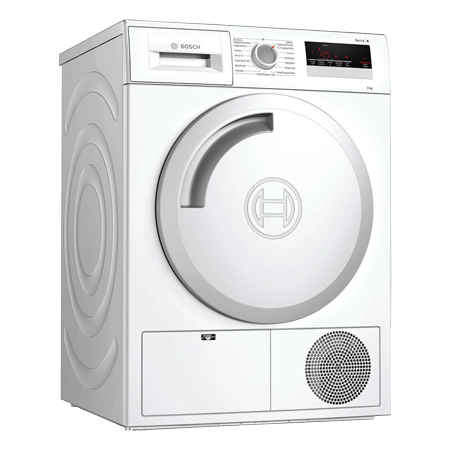 BOSCH WTN83201GB, 8kg Condenser Tumble Dryer - White - B Energy Rated