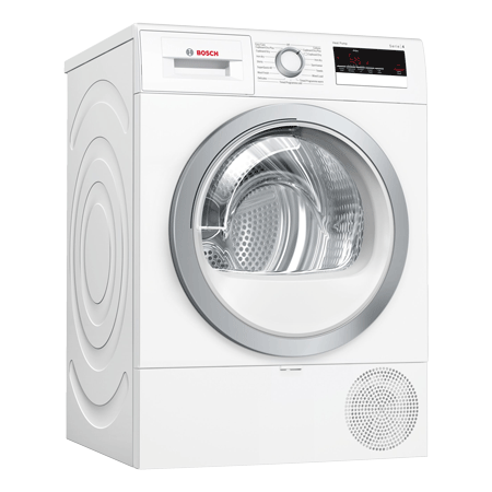 BOSCH WTR85V21GB, 8kg Condenser tumble dryer with Heat Pump, White,  A++ Energy Rating