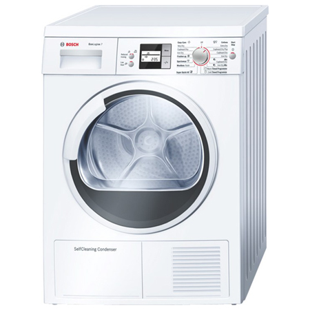 BOSCH WTW86560GB, 7kg EcoLogixx Series Condenser Tumble Dryer with Heat Pump & Self Cleaning Condenser.Ex-Display