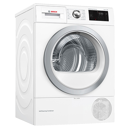 BOSCH WTWH7660GB, 9kg Heat Pump Tumble Dryer - White - A++ Rated - Winning Line