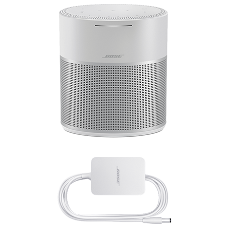 BOSE Home Speaker 300 Silver, Home Speaker 300 in Silver with Amazon Alexa & Google Assistant