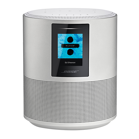 BOSE Home Speaker 500 Silver, Home Speaker 500 Silver with  with Google Assistant and Amazon Alexa voice control built in.Ex-Display Model