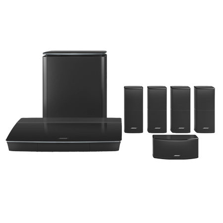 BOSE LIFESTYLE 600 Black, Home Cinema System with Jewel Cube speakers in Black