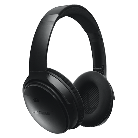 BOSE QuietComfort 35 Black, Acoustic Noise Cancelling Wireless Bluetooth headphones - Black