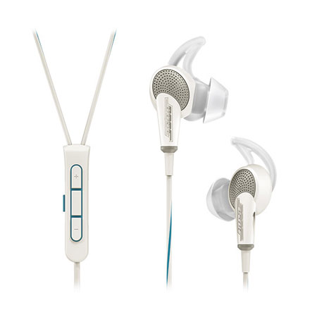 BOSE QuietComfort 20i II Apple White, Bose QuietComfort 20 Acoustic Noise Cancelling in-ear headphones for Apple devices in White