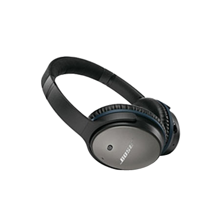 BOSE QuietComfort 25 Black, Acoustic Noise Cancelling headphones for Apple Models