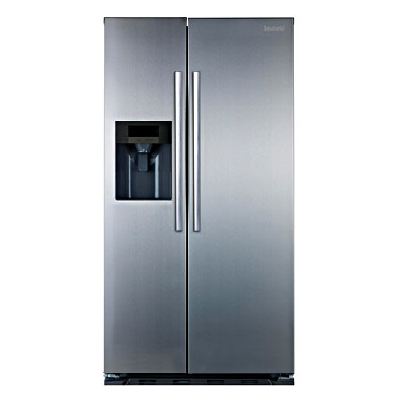 Baumatic B25SE, Frost Free American Style Side By Side Fridge Freezer - A+ Energy Rating, Stainless Steel.