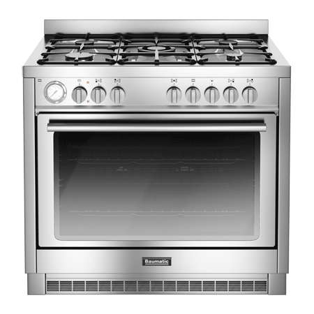 Baumatic BCD905SS, 90cm Gas with LPG Option Range Cooker with Single Oven and 4 Burner + 1 Wok Hob