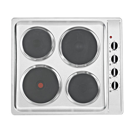 Baumatic BHS6005SS, 60 cm 4 Plate Solid Plate Electric Hob
