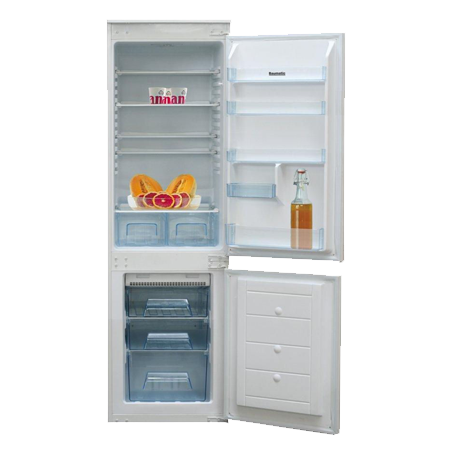 Baumatic BRCIF7030, Built-In Frost Free Fridge Freezer with A+ Energy Rating - White