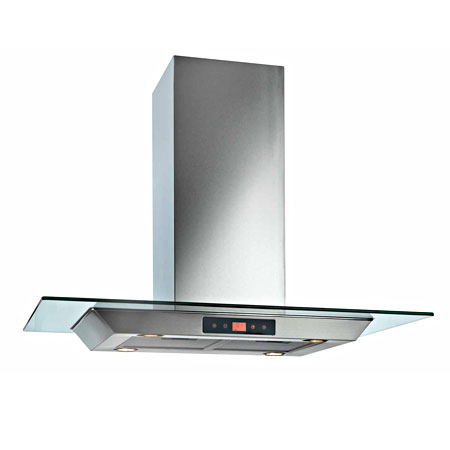 Baumatic BTI9170GL, 90 cm 3 Speed Built-in Island Hood Stainless Steel with Touch Controls