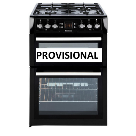 Blomberg GGN63Z, 60cm Gas Cooker Black with Double Oven , Lidded Hob and Cast Iron Pan Supports