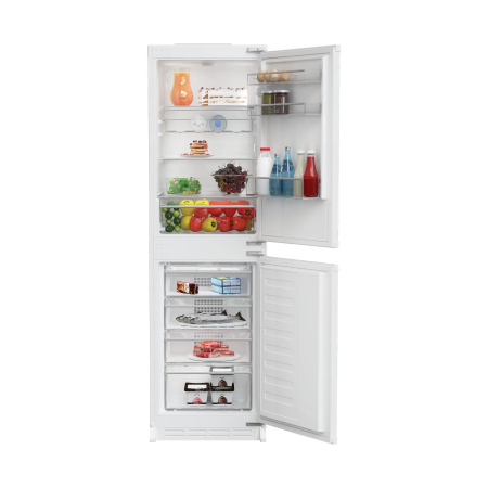 Blomberg KNM4561i, Built-In 54cm Frost Free Fridge Freezer ChromeWhite