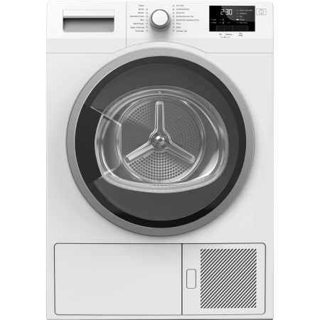 Blomberg LTS2832W, 8kg Heat Pump Condenser Dryer White with Sensor