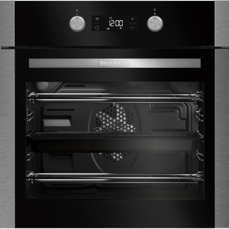 Blomberg OEN9302X, 59.5x59.4x56.7 Fan Assisted Electric Double Oven Stainless Steel with Programmer