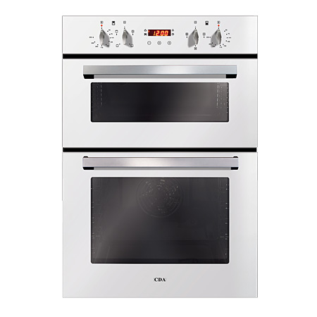 CDA DC940WH, Multifunction Electric Double Oven White Glass.