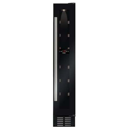 CDA FWC152BL, Under Counter Wine Cooler Black Glass.Ex-Display Model