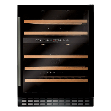 CDA FWC603BL, Under Counter Wine Cooler Black