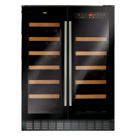CDA FWC624BL, Freestanding/under counter double door wine cooler