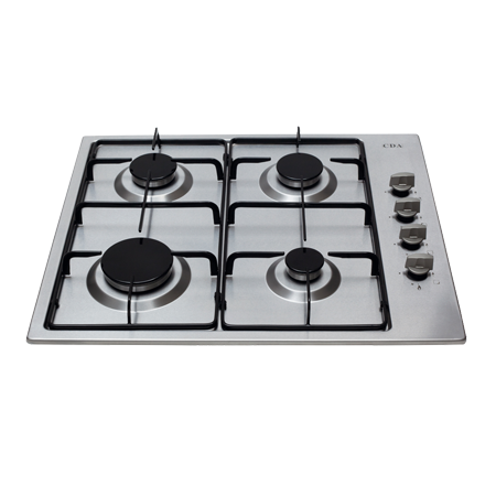CDA HG6150SS, 4 Burner Gas Hob.Ex-Display Model