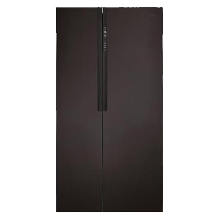 CDA PC52BL, US Style Side by Side Fridge Freezer Matt Black