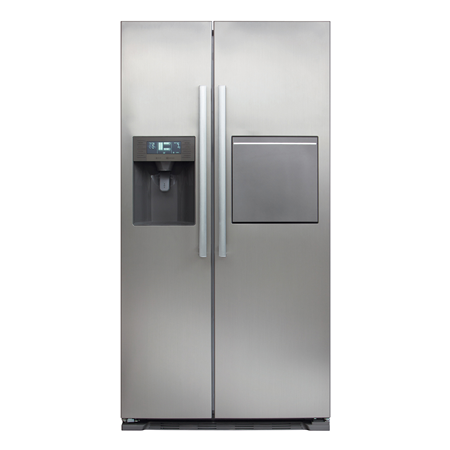CDA PC70SC, 512 Litre American style side-by-side frost free fridge freezer with Ice Water & home bar in Stainless Steel.Ex-Display