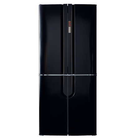 CDA PC88BL, US Style Side by Side Fridge Freezer with A+ Energy Rating - Black. Freestanding.Ex-Display Model