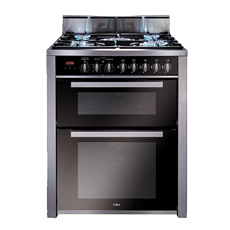 CDA RV701SS, 70cm Range Cooker Dual Fuel Double in Stainless Steel.