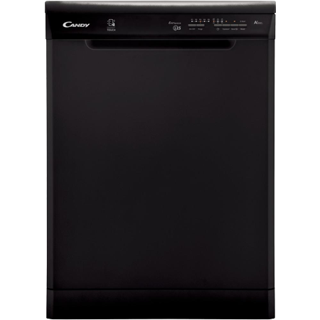 Candy CDP1LS57B, Freestanding Dishwasher With NFC & has 15 Place settings in Black