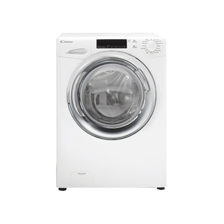 Candy GV159TWC31, Freestanding 9kg 1500rpm Washing Machine with A+++ Energy Rating - WhiteChrome