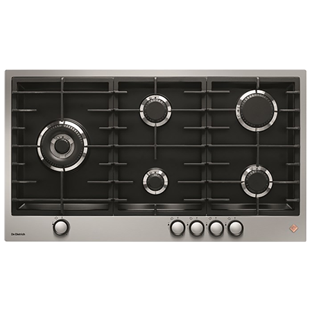 De Dietrich DPE7729XF, 72cm 5 Zone Gas Hob with Cast Iron Pan Supports