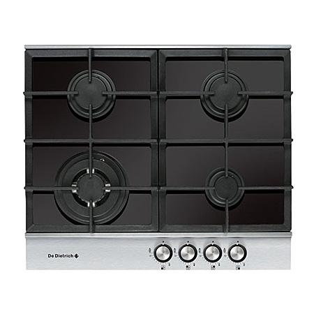De Dietrich DTG1164X, 60cm 4 Burner Gas on Glass Hob.Ex-Display