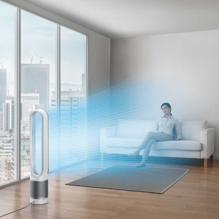 Dyson Tp02 White Tower Air Purifier Pure Cool Link In