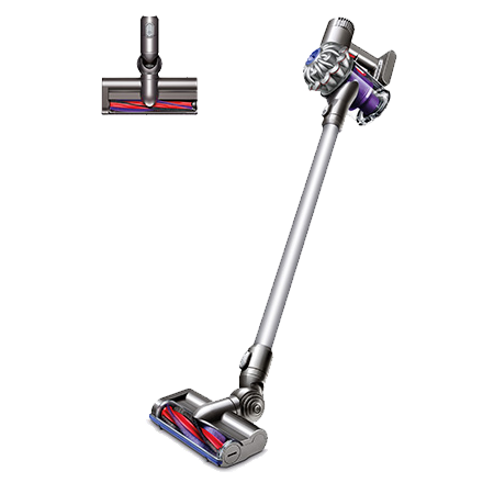 Dyson V6, Cordless Vacuum Cleaner in Silver, Red & Purple