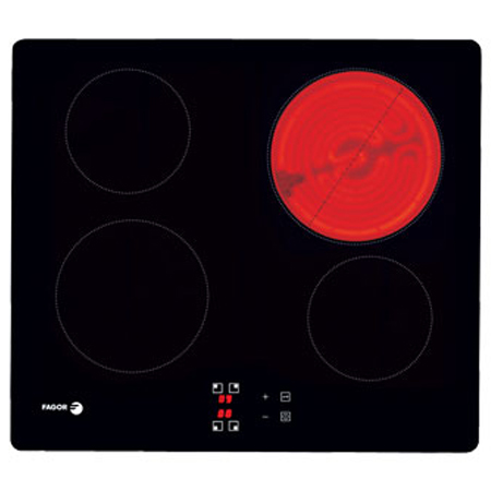Fagor FVH600R, 60cm Electric Ceramic Hob with 4 Zones in Black
