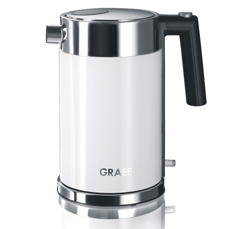 Graef WK61UK, 2000W Kettle with 1.2 Litre Capacity in White