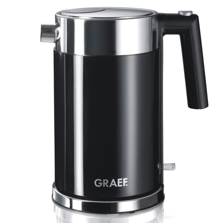 Graef WK62UK, 2000W Kettle with 1.2 Litre Capacity in Black. Ex-Display Model