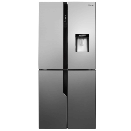 Hisense RQ560N4WC1, US Style Side by Side Fridge Freezer IceStainless Steel