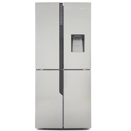 Hisense RQ560N4WC1, US Style Side by Side Fridge Freezer IceStainless Steel