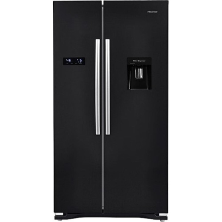 Hisense RS723N4WB1, US Style Side by Side Fridge Freezer Non Plumbed in black
