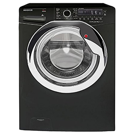 Hoover DXC4C47B1, Freestanding 7kg 1400rpm Washing Machine BlackChrome with Dial Controls