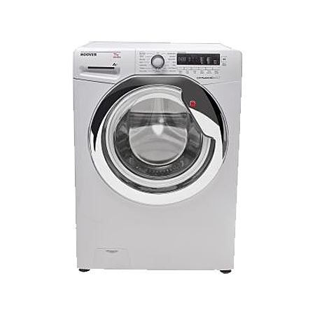 Hoover DXC4C47W1, Freestanding 7kg 1400rpm Washing Machine WhiteChrome with Dial Controls