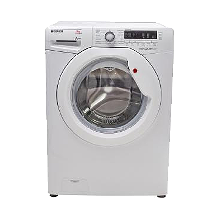 Hoover DXC58W3, Freestanding 8kg 1500rpm Washing Machine White with Dial Controls - A+++ Energy Rating