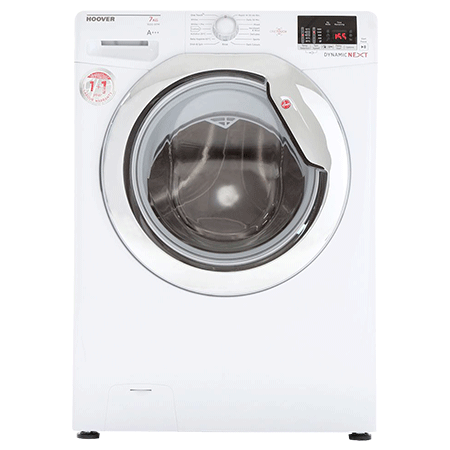 Hoover DXOC67C3, 7kg Load Dynamic One Touch Washing Machine with 1600 RPM Spin Speed and  A+AA Energy Rating.