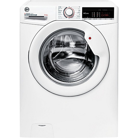 Hoover H3W4105TE, 10kg 1400rpm Washing Machine White with Dial Controls