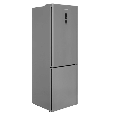 Hoover HF18XK, 60cm 70/30 Frost Free Smart Fridge Freezer with WiFi - A+ Energy Rating, Silver